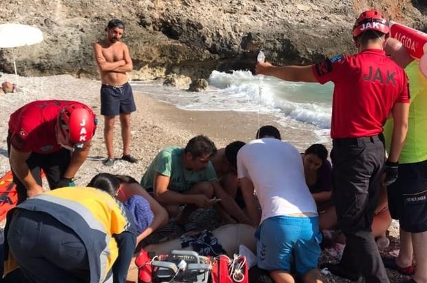 Fethiye'de kayalıklardan denize düşen kişi hayatını kaybetti