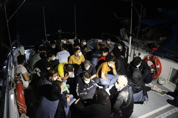 Çanakkale'de 27 düzensiz göçmen ve 2 göçmen kaçakçısı yakalandı