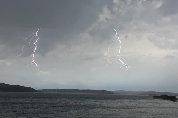 Çanakkale'de yaz ortasında fırtına Saros Körfezi'nde fırtına aniden bastırdı