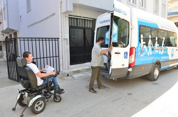 Sınava girecek engelli gence Yıldırım Belediyesi'nden destek