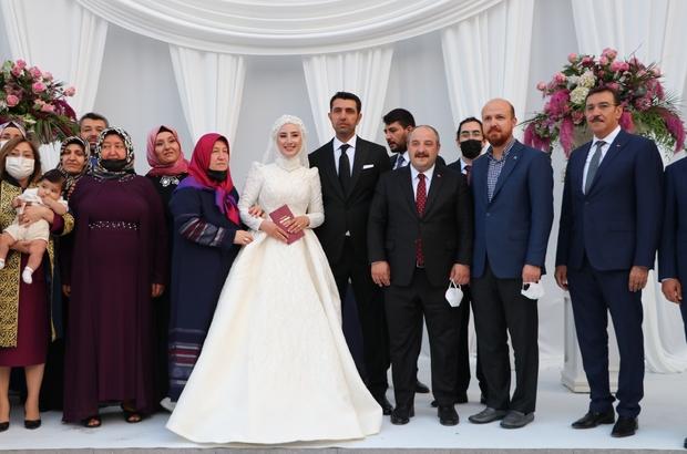 Bakan Varank ve Bilal Erdoğan, Gaziantep'te nikah şahitliği yaptı