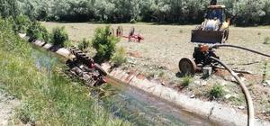 Traktör sulama kanalına yuvarlandı: 1 ölü, 2 yaralı