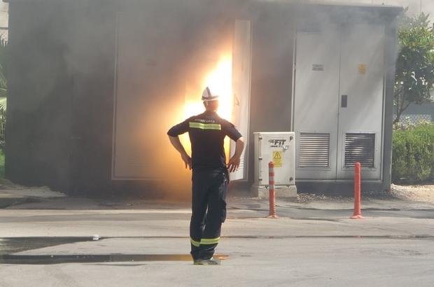 Trafo yangını korkuttu Alev alev yanan trafo uzman ekiplerin ve itfaiyenin müdahalesiyle söndürüldü