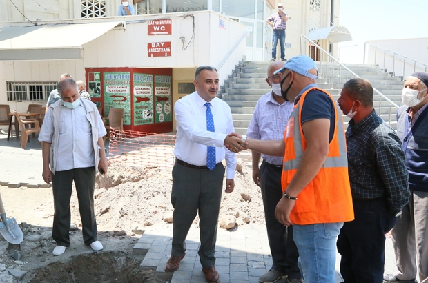 Başkan Cabbar Uzun Çarşı yenileme çalışmalarını yerinde inceledi