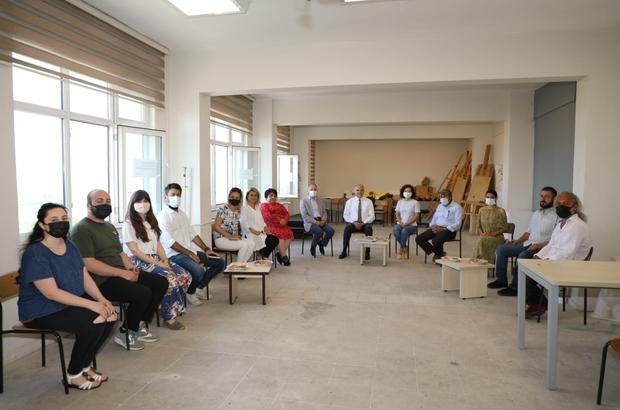 Başkan Özlü'den, Güzel Sanatlar Fakültesine ziyaret Sanatsal çalışmalar ortaklaşa yapılacak