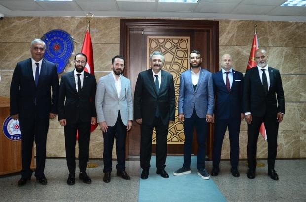 Bursaspor Yönetim Kurulu, Emniyet Müdürü'ne ziyarette bulundu