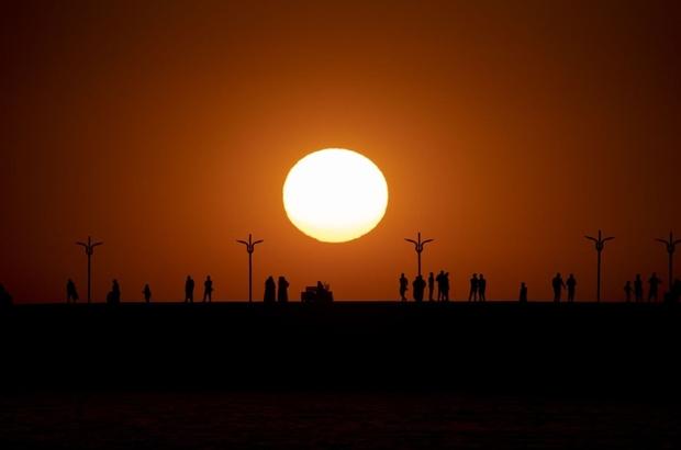 Türkiye'nin en doğusu Van'da eşsiz gün batımı