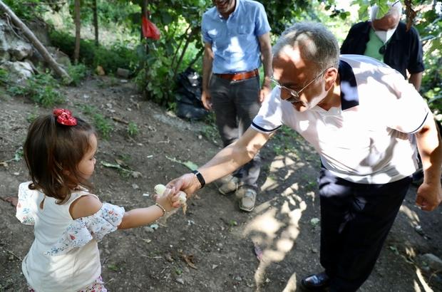 Başkandan Minik Elif'e ilginç doğum günü sürprizi