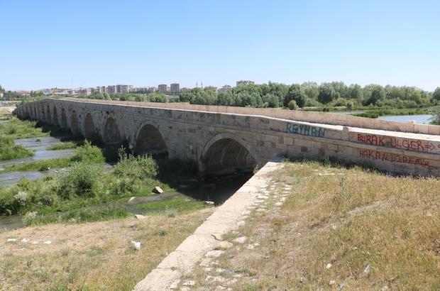 Tarihi köprüde içler acısı görüntüler Sivas kent merkezi yakınlarında bulunan tarihi köprüye sprey boyayla yazılan yazılar tarih severleri üzüyor