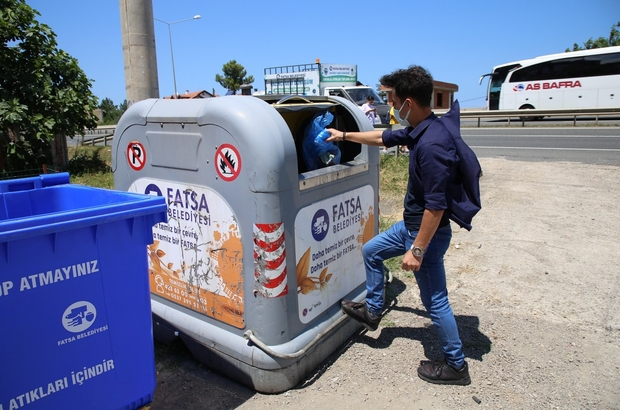 Fatsa'da çöpte ikili toplama sistemi