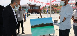 Van Gölü manzaralı 'Ulusal Resim' çalıştayı Edremit Belediyesinin 'Ulusal Resim Çalıştayı' başladı