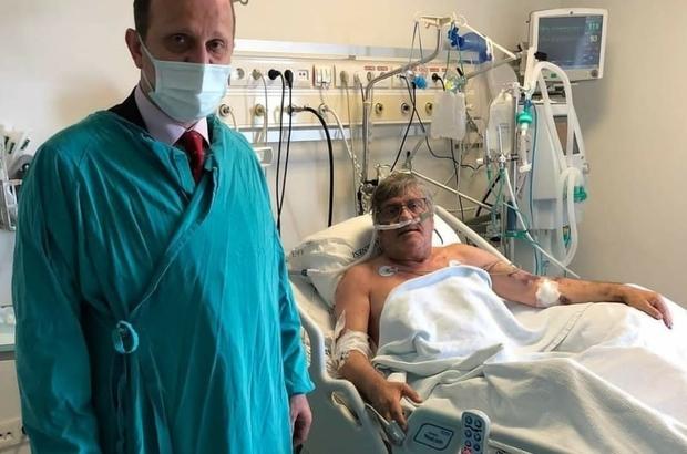 """Mustafa Reşit Akçay'dan sevindirici haber KTÜ Rektörü Prof. Dr. Hamdullah Çuvalcı: """"Mustafa hocamızı Farabi Hastanemizde ziyaret ettim; Durumu iyi elhamdülillah"""""""