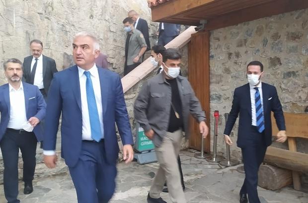 """Restorasyon çalışmaları tamamlanan Sümela Manastırı ziyarete açıldı Kültür ve Turizm Bakanı Mehmet Nuri Ersoy: """"Sümela Manastırı'nın ziyarete açılması başta Trabzon olmak üzere Karadeniz turizmine çok büyük katkı sağlayacağını düşünüyorum"""""""
