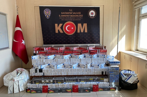 Konfeksiyon atölyesine kaçak sigara operasyonu Atölyede 6 bin 250 paket kaçak sigara ele geçirildi
