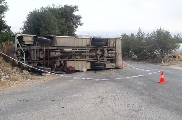 Mersin'de tarım işçilerini taşıyan midibüs kaza yaptı: 1 ölü, 14 yaralı