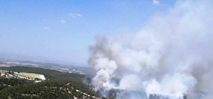 Anız yangını ormanlık alana sıçradı Manisa'da anız yakılırken ormana sıçrayan yangına uçak, helikopter ve arazözlerle müdahale ediliyor