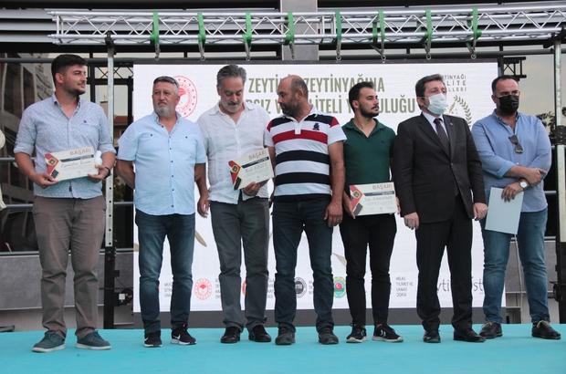 Zeytinyağı Kalite ödülleri verildi Muğla Tarım ve Orman Müdürlüğü'nün bu yıl ikincisini düzenlediği 'Zeytinyağı Kalite Ödül Töreni'nde ödüle layık görülen ürünlerin sahipleri ödüllendirildi.