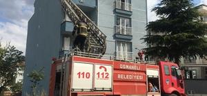Osmaneli'de 4 katlı binada yangın