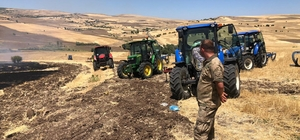 Tunceli'de 150 dönümlük ekili alan küle döndü
