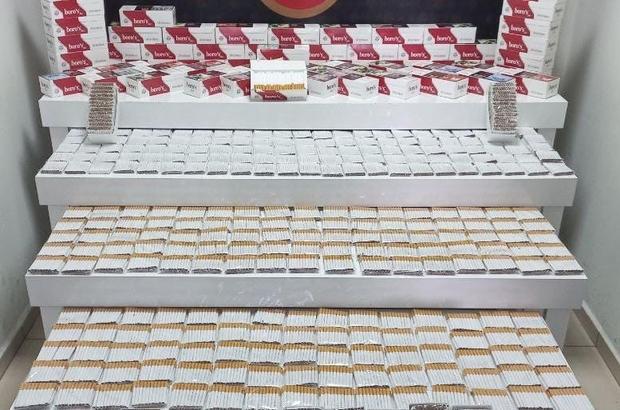 Denizli'de binlerce kaçak tütün ürünü yakalandı
