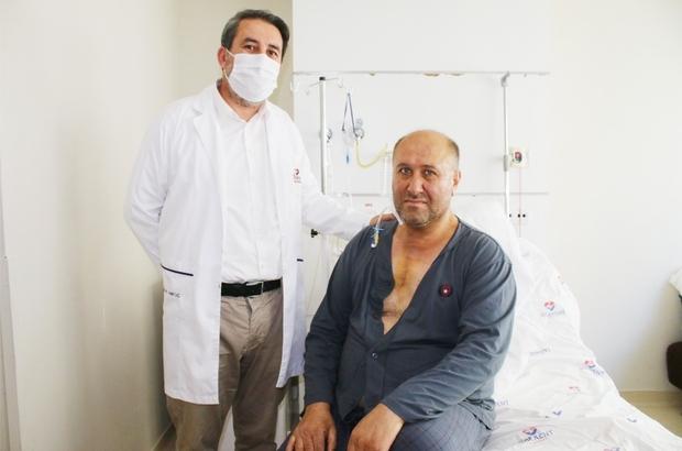 53 yaşındaki hastaya 8 santimetrelik kesi ile kalp ameliyatı Küçük kesi ile kalp kapağı ameliyatı geçiren hasta Egekent'te sağlığına kavuştu