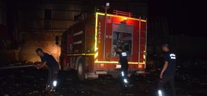 Hatay'da hurdacıda çıkan yangın 2 saatte söndürüldü