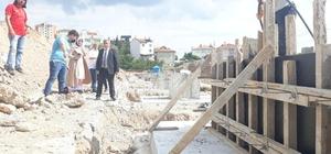 Kapalı pazar yeri inşaatı hızla devam ediyor
