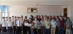 Besni'de mesleki eğitim merkezi kursiyerleri diplomalarına kavuştu