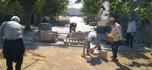 İslahiye'de kilitli parke taşı çalışmaları devam ediyor