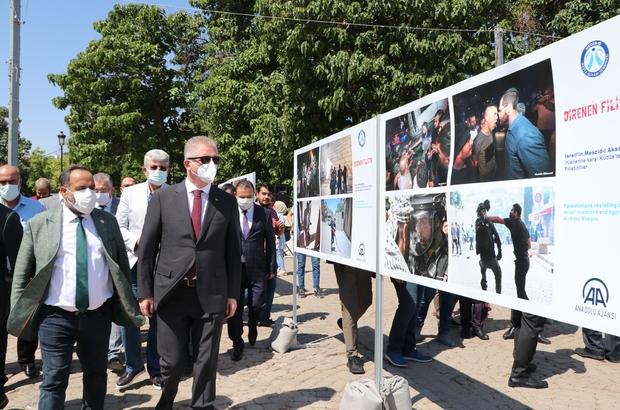 Gaziantep'te, 'Direnen Filistin' fotoğraf sergisi açıldı