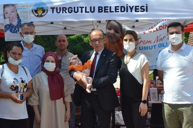 SMA hastası İrem Nur bebek için Turgutlu tek yürek oldu