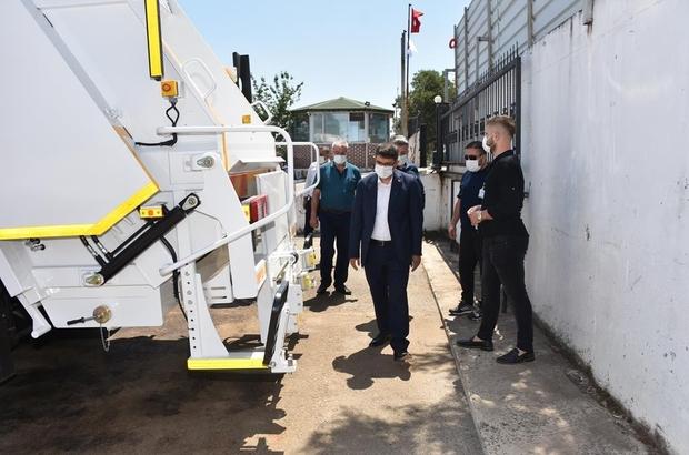 Başkan Çelik temizlik filosunun yeni aracını tanıttı
