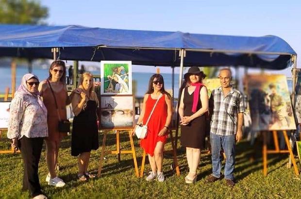 Yumurtalık Kültür Sanat ve Turizm Festivali'nde resim sergisi açıldı