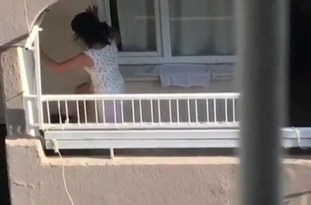 Adana'da köpeğe eziyet kamerada