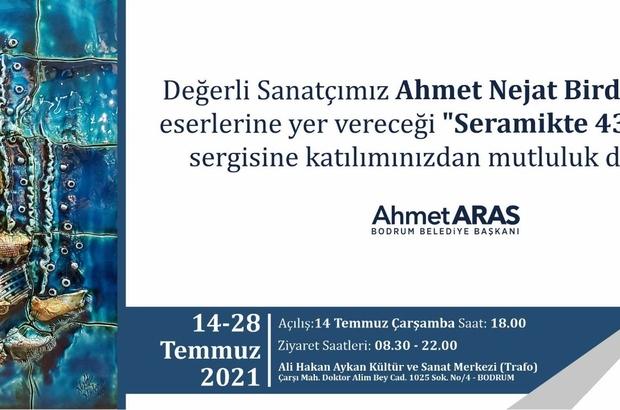 """Ahmet Nejat Birdevrim'den """"Seramikte 43 Yıl"""" Sergisi"""