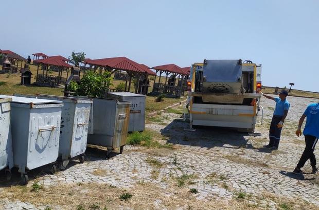 Piknik alanlarından toplanan çöpler kamyonlara sığmadı