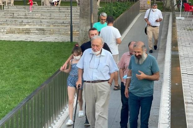 Ünlü tarihçi İlber Ortaylı İznik'te tarihi mekanları gezdi