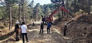 Bölge Müdürlüğü orman yol ağını genişletiyor