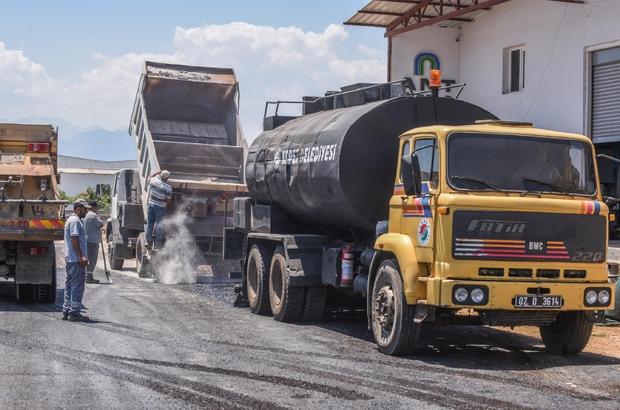 Altınova'da asfalt çalışması