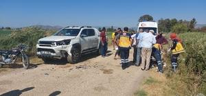 Hatay'da kamyonet ile motosiklet çarpıştı: 2 yaralı