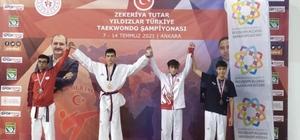 Bilecikli genç taekwondocu Türkiye şampiyonu oldu