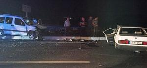 Konya'da otomobil ile hafif ticari araç çarpıştı: 4 yaralı