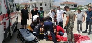 Pisti ıskalayan paraşüt taşlı zemine çakıldı: 2 yaralı