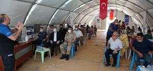 Beşiri'de AFAD eğitim çadırı kuruldu