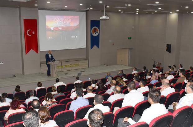 """Rektör Çamsarı: """"O gece Türk Milleti, vatanına sahip çıkmıştır"""" Mersin Üniversitesinde 15 Temmuz Demokrasi ve Milli Birlik Günü anma etkinliği düzenlendi"""