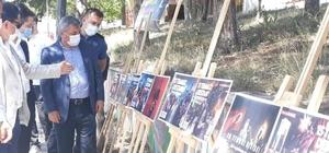 Altıntaş'ta resim sergisi açıldı, şehit aileleri ziyaret edildi