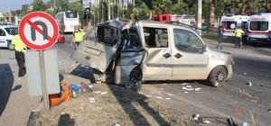Manisa'da 3 araçlı zincirleme kaza: 2 yaralı