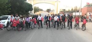 Altıntaş'ta 15 Temmuz şehitleri anısına bisiklet turu