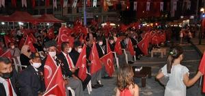 """Vatan sevdalılarının """"Türkiye geçilmez"""" coşkusu 15 Temmuz kanlı darbe girişiminin 5'inci yıl dönümünde, Simavlı vatan sevdalıları tek vücut olup, """"Türkiye geçilmez"""" dedi"""