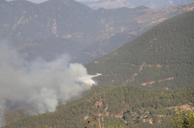 Mersin'deki orman yangını devam ediyor Mersin'in Aydıncık ilçesinde çıkan orman yangını devam ederken, havadan 3 uçak ile 21 helikopter ve karadan 164 arozöz yangına müdahale ediyor Tedbir amacıyla 50 evde boşaltıldı